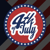 4th of july american independence day banner. Design royalty free illustration
