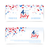 4th of July, American Independence Day banners. Vector illustration, eps10. 4th of July, American Independence Day banners. Vector illustration Royalty Free Stock Photo