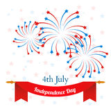 4th of July, American Independence Day celebration background. Vector Stock Photos