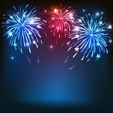 4th of July, American Independence Day celebrations background. 4th of July, American Independence Day celebrations with firework Royalty Free Stock Photos