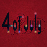 4th July American Independence Day design. For design Royalty Free Illustration
