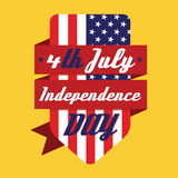 4th July American Independence Day Design. Illustration stock illustration