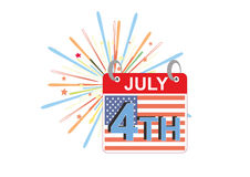 4th of July. American Independence day 4th of July event banner logo background greeting card. vector eps 10 Royalty Free Stock Image