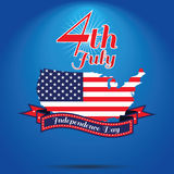 4th of July, American independence day . Happy independence day. American iindependence day 4 th july. Happy independence day vector illustration