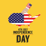 4th July American Independence Day. Illustration stock illustration
