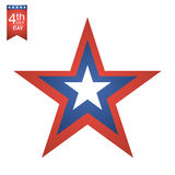 4th of July American independence day illustration. Royalty Free Stock Image