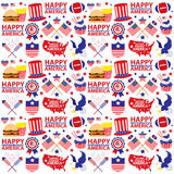 4th of July, American Independence Day seamless Stock Image