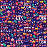 4th of July, American Independence Day seamless. This is American Independence day seamless design. Vector File Stock Illustration
