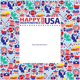 4th of July, American Independence Day template. This is American Independence day template design. Vector File vector illustration