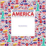 4th of July, American Independence Day template. This is American Independence day template design. Vector File royalty free illustration