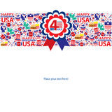 4th of July, American Independence Day template Royalty Free Stock Photos