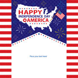 4th of July, American Independence Day templates Stock Images