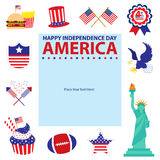 4th of July, American Independence Day templates. This is American Independence day templates design. Vector File vector illustration
