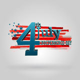 4th of July. American independence day vector Stock Photos