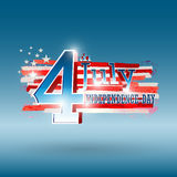 4th of July. American independence day vector Royalty Free Stock Images