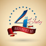 4th of July. American independence day vector Stock Images