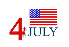 4th of July Background with American flag Royalty Free Stock Photo