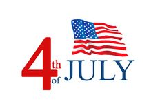 4th of July Background with American flag. Illustration of 4th of July Background with American flag Stock Images