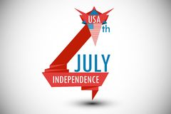 4th of july background design idea. Stock Photography
