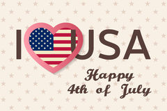 4th of july background. Fourth of July felicitation classic postcard. Royalty Free Stock Photography