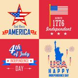 4th of July background. Illustration of 4th of July background for American Independence Stock Images