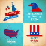 4th of July background. Illustration of 4th of July background for American Independence Royalty Free Stock Image
