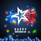 4th of July background. Illustration of 4th of July background for American Independence Royalty Free Stock Images