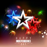 4th of July Background. Illustration of 4th of july background with firework Royalty Free Stock Photography