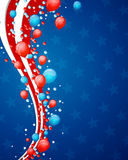 4th of July Background. Illustration of a 4th of July Independence Day Design Stock Image