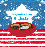 4th of July background, Independence Day. Illustration Stock Photography
