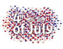 4th of july background. 4th of july red and blue stars background Royalty Free Stock Photos