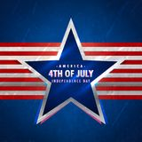 4th of july background with star and red stripes. Vector Royalty Free Stock Photography