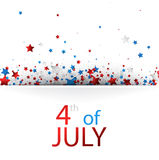 4th July background with stars. White USA Independence Day background with colorful stars. Vector paper illustration Royalty Free Stock Image