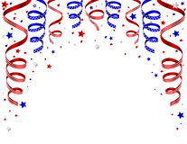 4th of july background with streamers. Vector of independence day background Royalty Free Stock Images