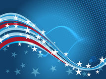 4th July background template. Patriotic Independence Day background with organic waves and stars vector illustration