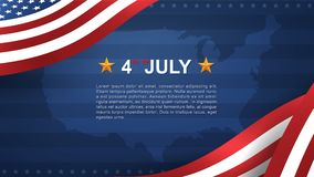 4th of July - Background for USA Independence Day with wood texture background. 4th of July background for USAUnited States of America Independence Day with vector illustration