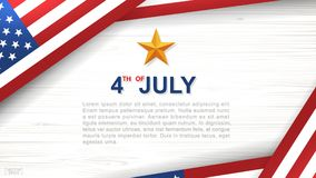 4th of July - Background for USA Independence Day with wood texture background. 4th of July - Background for USAUnited States of America Independence Day with Stock Photography
