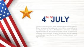4th of July - Background for USA Independence Day with wood texture background. 4th of July - Background for USAUnited States of America Independence Day with Stock Photo