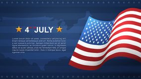 4th of July background for USAUnited States of America Independence Day. 4th of July background for USAUnited States of America Independence Day with blue royalty free illustration
