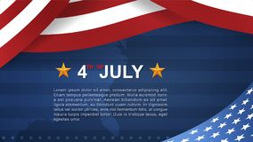 4th of July - Background for USAUnited States of America Independence Day. 4th of July background for USAUnited States of America Independence Day with blue royalty free illustration
