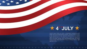 4th of July background for USAUnited States of America Independence Day. 4th of July background for USAUnited States of America Independence Day with blue stock illustration