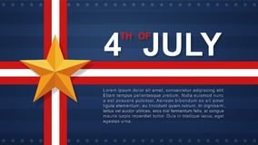 4th of July - Background for USAUnited States of America Independence Day. 4th of July background for USAUnited States of America Independence Day. Vector stock illustration