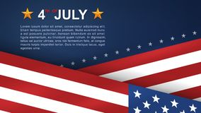 4th of July background for USAUnited States of America Independence Day. 4th of July background for USAUnited States of America Independence Day with blue vector illustration