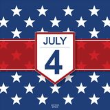 4th of July - Background for USAUnited States of America Independence Day. Vector illustration vector illustration