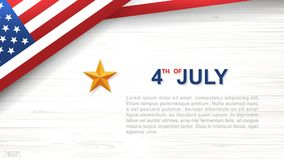 4th of July - Background for USA Independence Day with wood texture background. 4th of July - Background for USAUnited States of America Independence Day with Stock Images