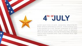 4th of July - Background for USAUnited States of America Independence Day. 4th of July - Background for USAUnited States of America Independence Day with white vector illustration