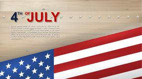 4th of July background for USAUnited States of America Independence Day. 4th of July background for USAUnited States of America Independence Day with wood stock illustration