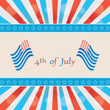 4 th of july background . Stock Photos