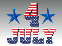 4Th July Background. Vector illustration Royalty Free Stock Images