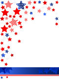 4th of July background. Vector of  US celebration card Royalty Free Stock Images